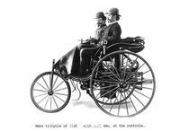 ******** Three-wheeled Benz motor car, 1886.