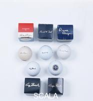 ******** Presidential golf balls and boxes, 1970-92.