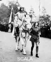 ******** Marjorie Annan Bryce on horseback dressed as Joan of Arc at the Women's Coronation Procession, London, 1911