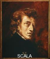 Delacroix, Eugene (1798-1863) Portrait of Chopin