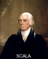 Harding, Chester (1792-1866) James Madison, Fourth President of the United States.  Painted c.1825-1830.