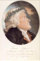 Kosciuszko, Tadeusz (1746-1817) Portrait of Thomas Jefferson. Aquatint. MA 6024.
