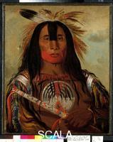 Catlin, George (1796-1872) Buffalo Bull's Back Fat, head chief, Blood Tribe Blackfoot, 1832