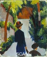 Macke, August (1887-1914) Mother and Child in a Park. 1914.