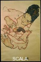 Schiele, Egon (1890-1918) Nursing Mother (Stephanie Gruenwald), 1917