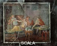 Roman art Two couples in summer triclinium. Fresco from the House of Lovers, Pompeii
