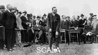 ******** Edsel Ford turning the first sod at the site of Ford's plant at Dagenham, Essex, late 1920s.