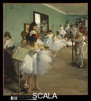 Degas, Edgar (1834-1917) The Dance Class, probably 1874