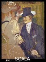 Toulouse Lautrec, Henri de (1864-1901) The Englishman (William Tom Warrener, 1861-1934) at the Moulin Rouge, 1892