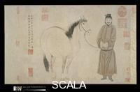 Chao Mengfu (Zhao 1254-1322); Zhao Yong (1289-after 1360), and Zhao Lin (fl. second half of 14th cent.) Grooms and Horses, by Three Generations of the Zhao Family, dated 1296 and 1359