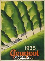 Colin, Paul (1892-1985) Advertising poster: 'Peugeot', 1935