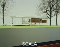 Mies van der Rohe, Ludwig (1886-1969) Farnsworth House model, Plano Illinois 1945-51